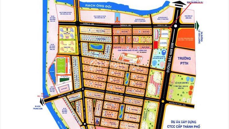 Bán nhà phố Him Lam Kênh Tẻ. 5x20 m2, hầm trệt, 2,5 lầu, đường nội bộ, hướng Nam, gần hồ sinh thái - 2