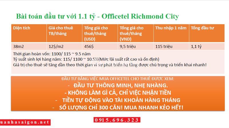 Căn hộ Richmond City Nguyễn Xí - Mở bán tòa Riches liên hệ nhanh để nhận chiết khấu tốt - 7