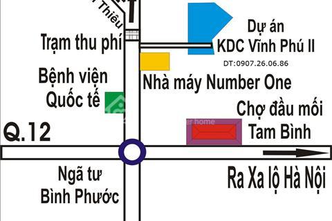 Bán đất nền KDC Vĩnh Phú 2 sổ hồng riêng thổ cư 100%, giá bán 860 triệu