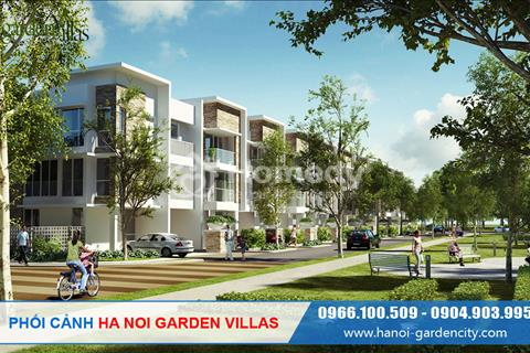 Biệt thự Ha Noi Garden Villas 6,6 tỷ/lô, vào ở luôn đã hoàn thiện, chiết khấu 6%, vay ưu đãi 0%