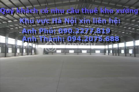 Cho thuê kho xưởng tại Định Công, Diện tích: 100 -500 m2, xe container ra vào tốt