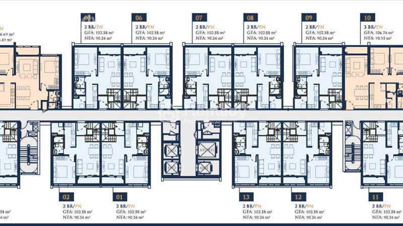 Căn hộ ven sông Feliz En Vista – 33 triệu/m2 căn 106m2 thông tầng, full nội thất - 3