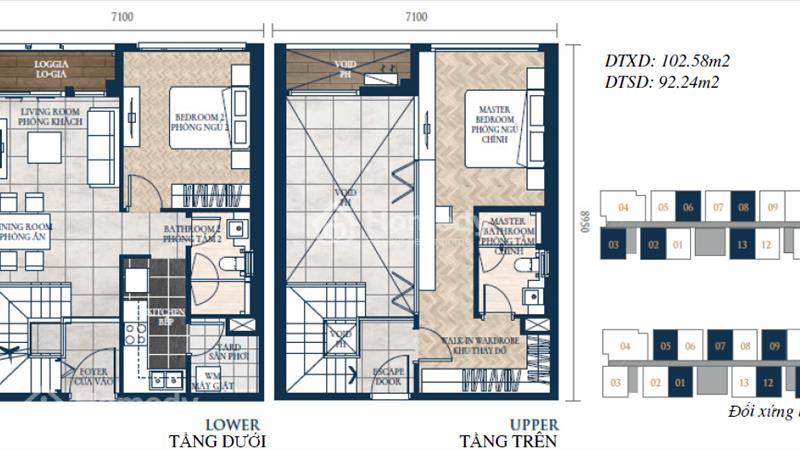 Căn hộ ven sông Feliz En Vista – 33 triệu/m2 căn 106m2 thông tầng, full nội thất - 4