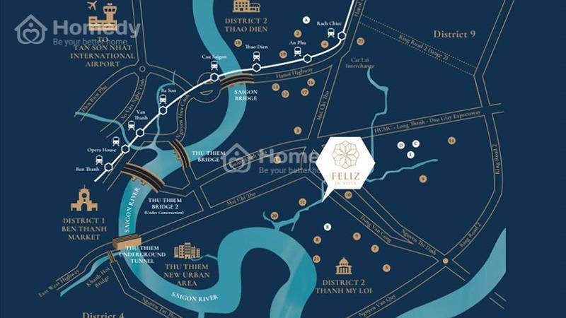 Căn hộ ven sông Feliz En Vista – 33 triệu/m2 căn 106m2 thông tầng, full nội thất - 2