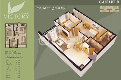 Thăng Long Victory căn hộ 69,8 m2 cuối cùng giá chỉ 1,005 tỷ/căn.