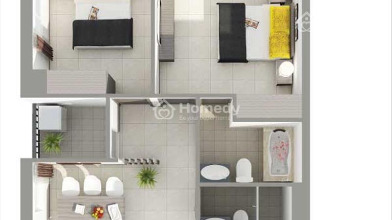 Bán căn hộ sắp giao nhà gần Đầm Sen căn hộ 8X Rainbow 2pn/64m2, trả góp 6 triệu/tháng - 4