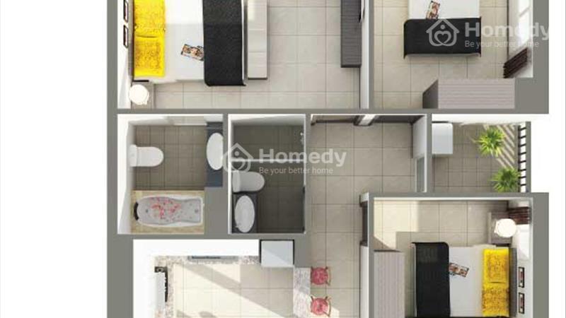 Bán căn hộ sắp giao nhà gần Đầm Sen căn hộ 8X Rainbow 2pn/64m2, trả góp 6 triệu/tháng - 3