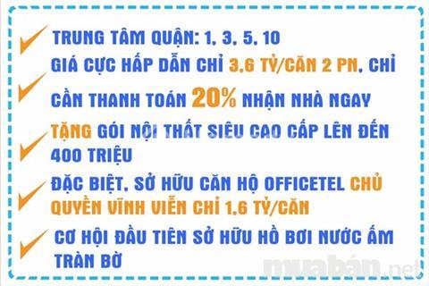 Căn hộ Nguyễn Văn Cừ bàn giao nhà 1/2017. TT 20% nhận nhà, ngân hàng hỗ trợ 70% nhiều ưu đãi !!