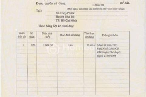 Bán đất giá rẻ trong khu dân cư hiện hữu đường Nguyễn Văn Tạo, huyện Nhà Bè