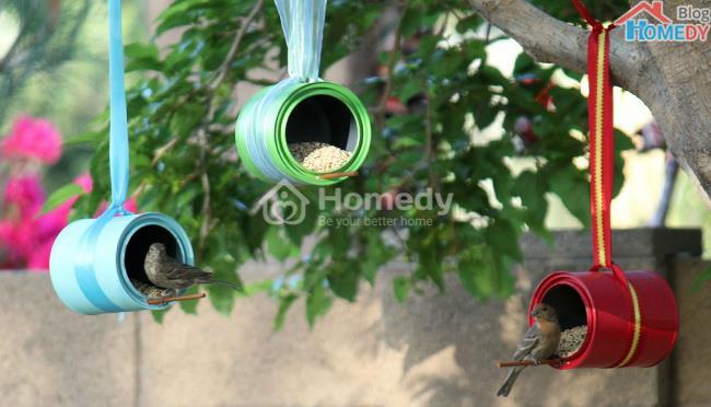mang dung thuc an cho chim