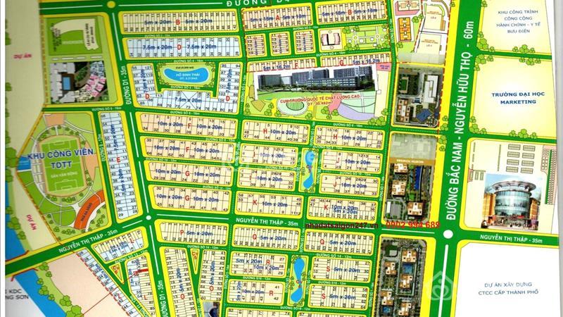 Bán nhà phố khu đô thị mới Him Lam Kênh Tẻ. 4.5x20, hầm trệt 2 lầu, sân thượng, 11.4 tỉ - 1