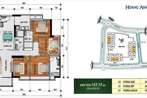 Bán căn hộ Hoàng Anh River View, 4PN diện tích 157m2 full nội thất.