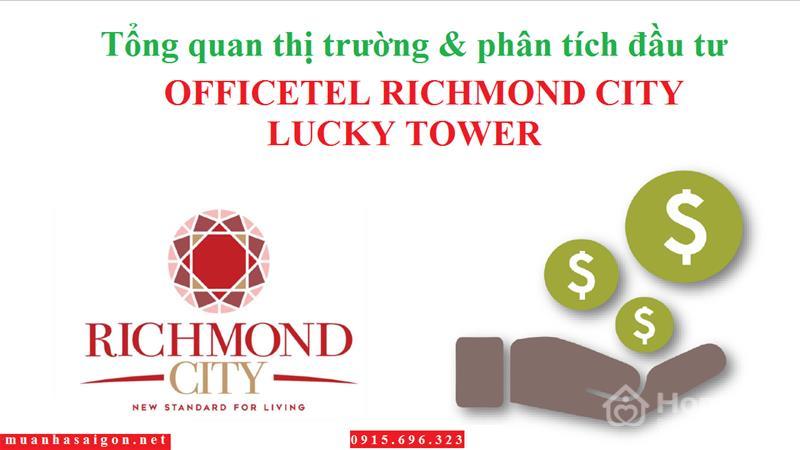 Officetel + Căn hộ + Shophouse Richmond City bùng nổ thị trường BĐS quận Bình Thạnh, chỉ từ 939 tr - 1