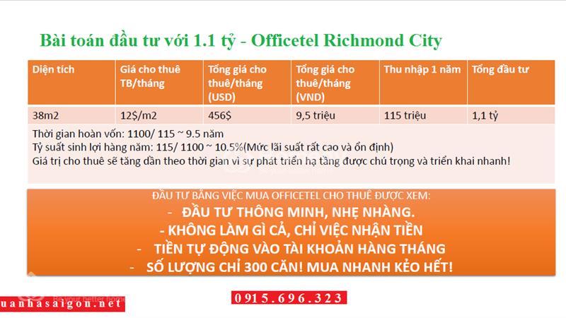 Officetel + Căn hộ + Shophouse Richmond City bùng nổ thị trường BĐS quận Bình Thạnh, chỉ từ 939 tr - 8