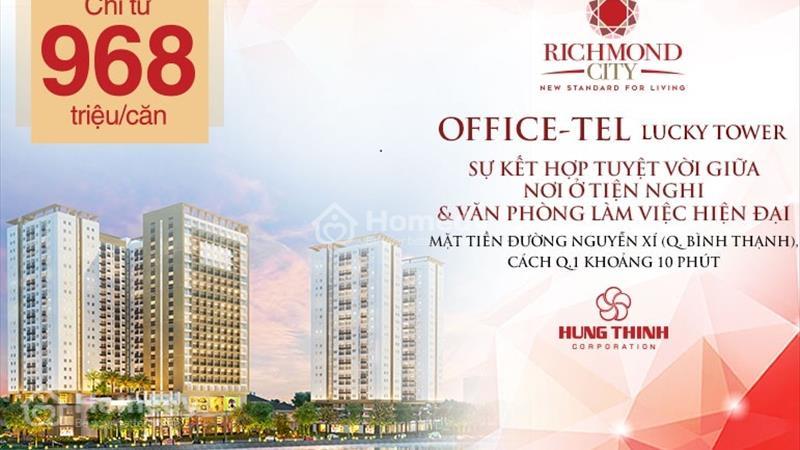Officetel + Căn hộ + Shophouse Richmond City bùng nổ thị trường BĐS quận Bình Thạnh, chỉ từ 939 tr - 12