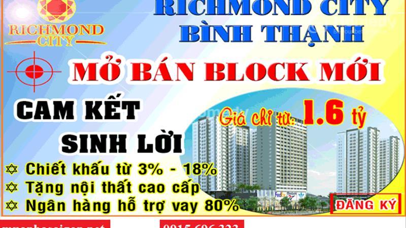 Officetel + Căn hộ + Shophouse Richmond City bùng nổ thị trường BĐS quận Bình Thạnh, chỉ từ 939 tr - 14