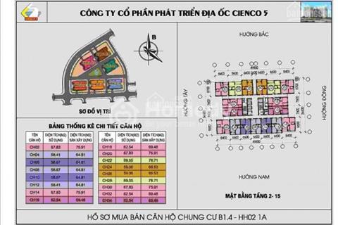 Chung cư Thanh Hà Cienco 5 - Giá siêu rẻ chỉ 600 triệu/ căn nhanh tay sở hữu