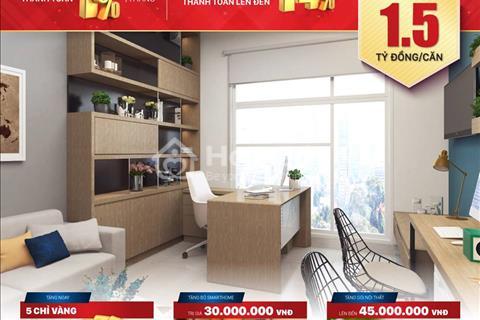 Căn hộ,Officetel The Sun Avenue,Thanh toán 1%/tháng,bàn giao hoàn thiện,CK từ 5-14%