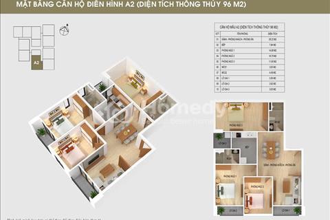 Bán căn 05-96 m2 South Building Pháp Vân với giá gốc chủ đầu tư  20,5 triệu/m2, hỗ trợ vay vốn 70%