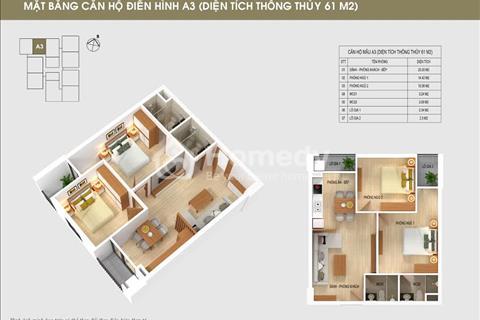 Bán căn 09 diện tích 61 m2 South Building Pháp Vân với giá gốc chủ đầu tư, hỗ trợ vay vốn 70%