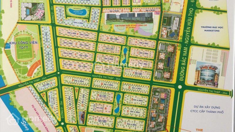 Cho thuê biệt thự khu phố thương mại Nguyễn Thị Thập, khu đô thị Him Lam Quận 7 - 1