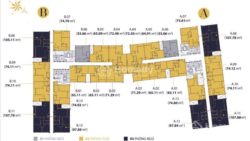 Đầu tư shophouse - Officetel Millennium Bến Vân Đồn, liền kề quận 1 - 3