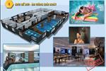 Tiện ích nội khu trong dự án phải kể đến như bể bơi bốn mùa, các cửa hàng mua sắm, ăn uống nhộn nhịp...