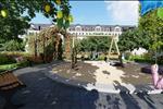 Bên cạnh khu biệt thự, cư dân sống tại đây còn được thừa hưởng tiện ích cảnh quan nội khu với khuôn viên cây xanh, khu vui chơi trẻ em, đài phun nước...