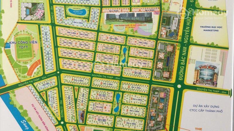 Cho thuê nhà nguyên căn đường Nguyễn Thị Thập, khu đô thị Him Lam quận 7 - 1