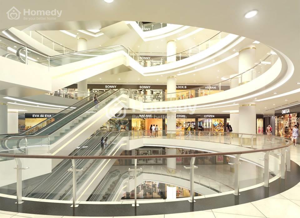 Hạ tầng trung tâm thương mại với các khu mua sắm bán lẻ chuyên biệt