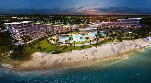 Bãi biển được quy hoạch tại từng khu của dự án