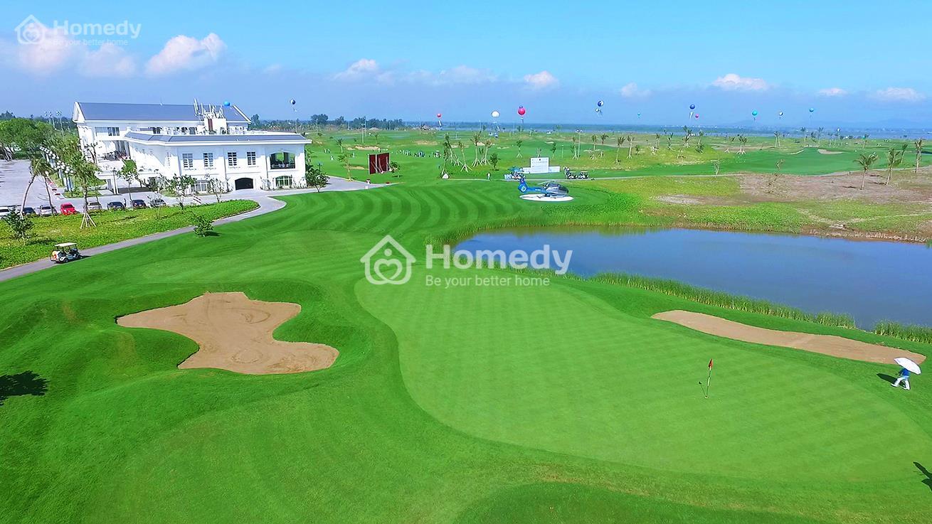 Sân golf 18 lỗ dạng link hiện đại tiêu chuẩn quốc tế