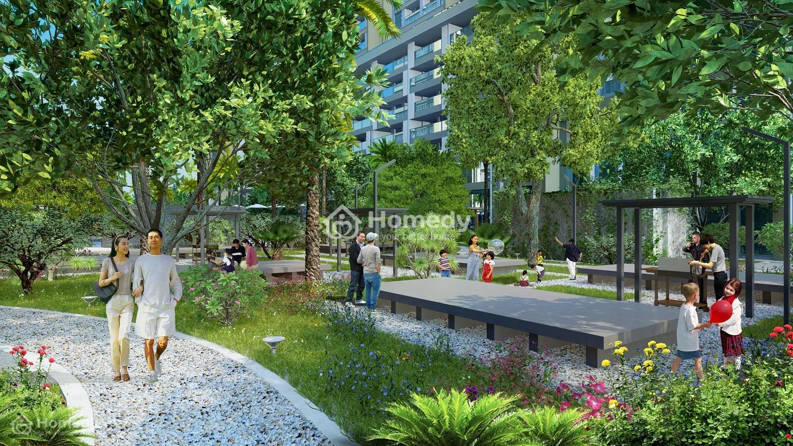 Khuôn viên xanh với mật độ cao