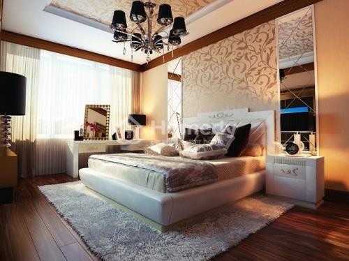 Phòng ngủ được thiết kế hướng sáng với ô cửa số được trang bị kính 3 lớp