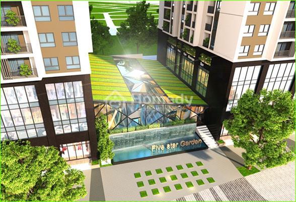 Những tán cây ôm trọn tòa nhà Five Star Garden Kim Giang tạo nên một quần thể đô thị xanh thân thiện với cuộc sống cũng như môi trường