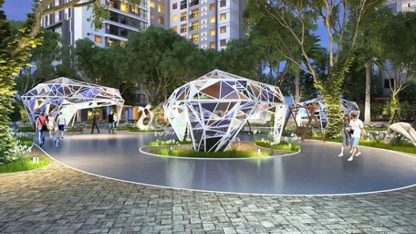 Phối cảnhQuảng trường Sapphire - một trong 4 quảng trường hiện đại của dự án Goldmark City