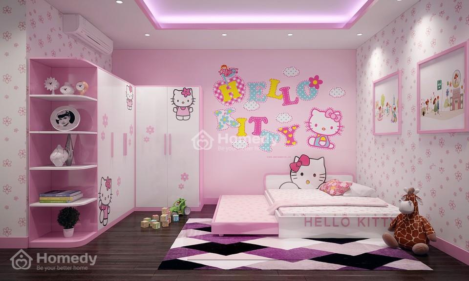 Thiết kế nội thất cho phòng ngủ bé gái.