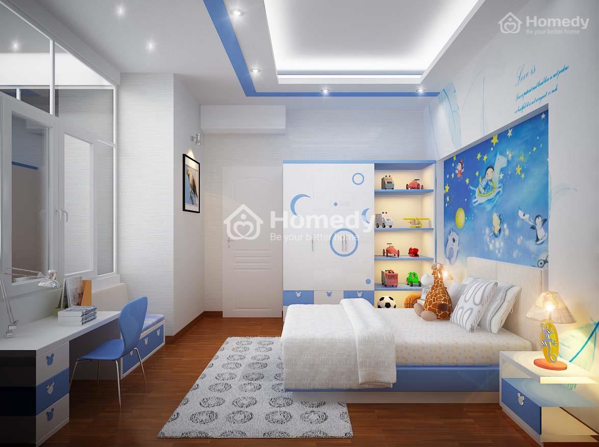 Thiết kế phòng ngủ cho bé trai.