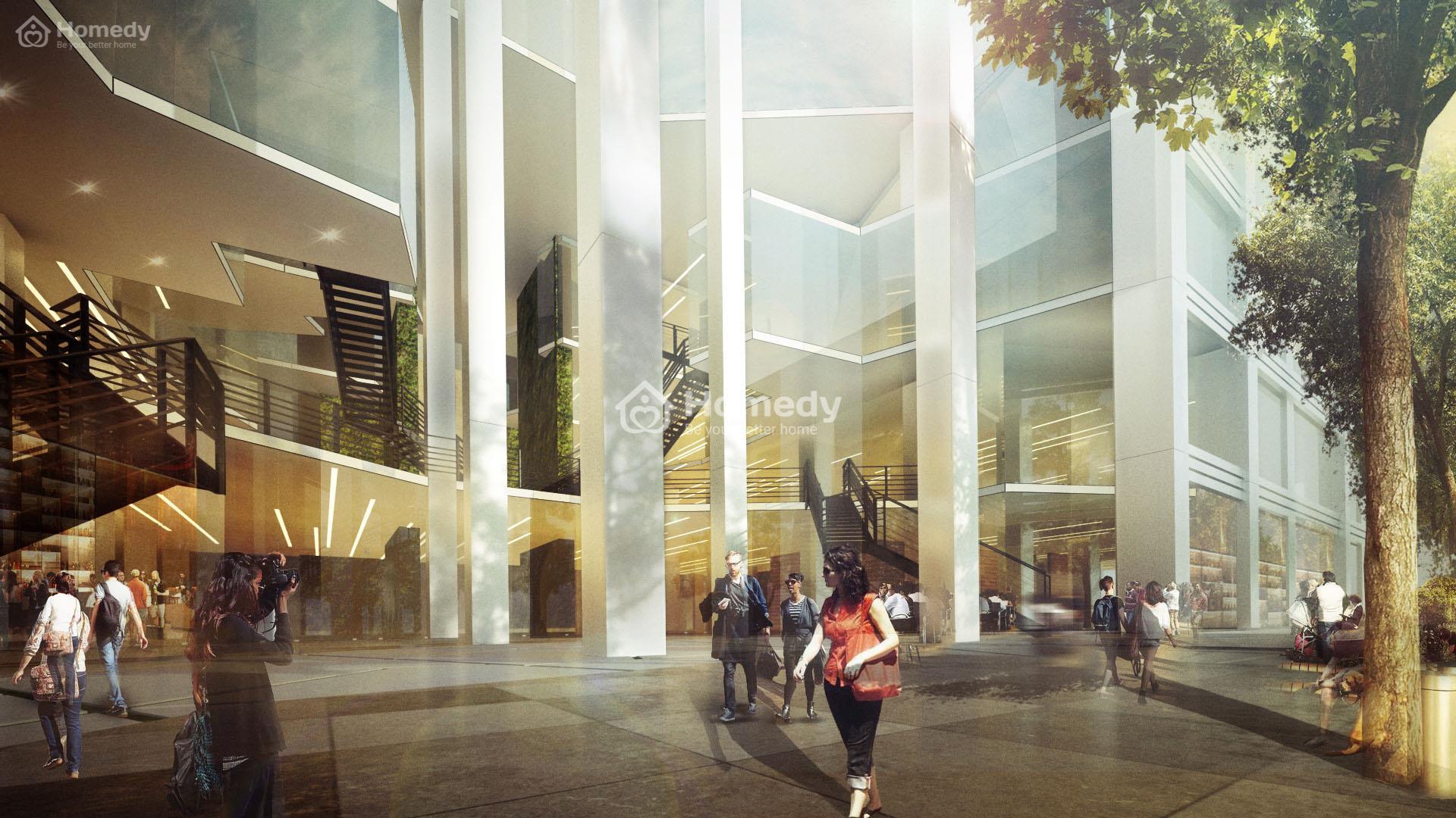 Thiết kế mang hơi thở của mùa thu trong các hạng mục của tòa nhà