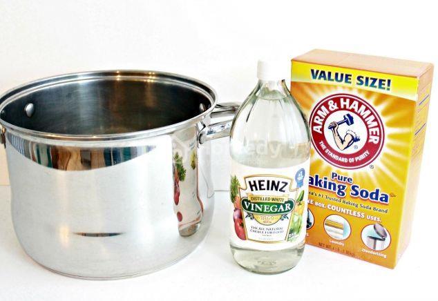 Hỗn hợp để tạo nên thần kì này bao gồm : baking soda, dấm và nước