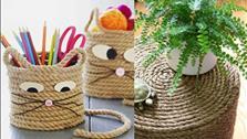 14 ý tưởng tái sử dụng dây thừng thành đồ vật trong nhà tuyệt vời