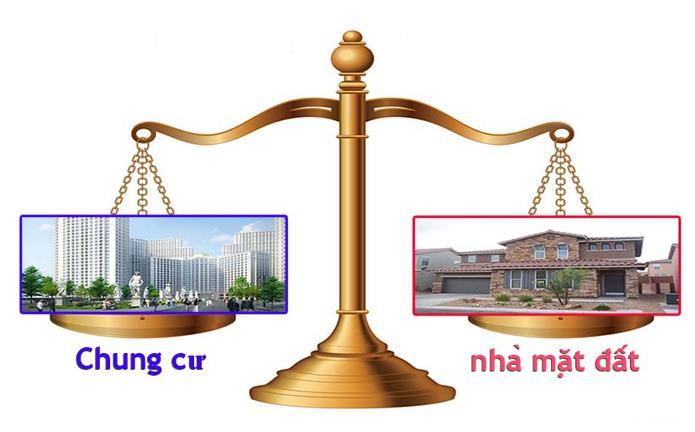 mua đất hay chung cư