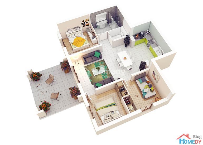 mẫu căn hộ 3D 1