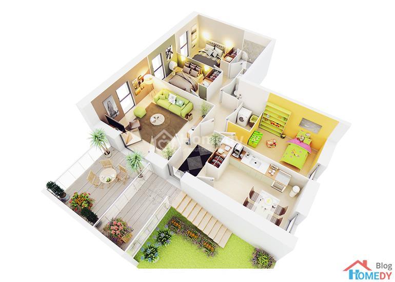 mẫu căn hộ 3D 10