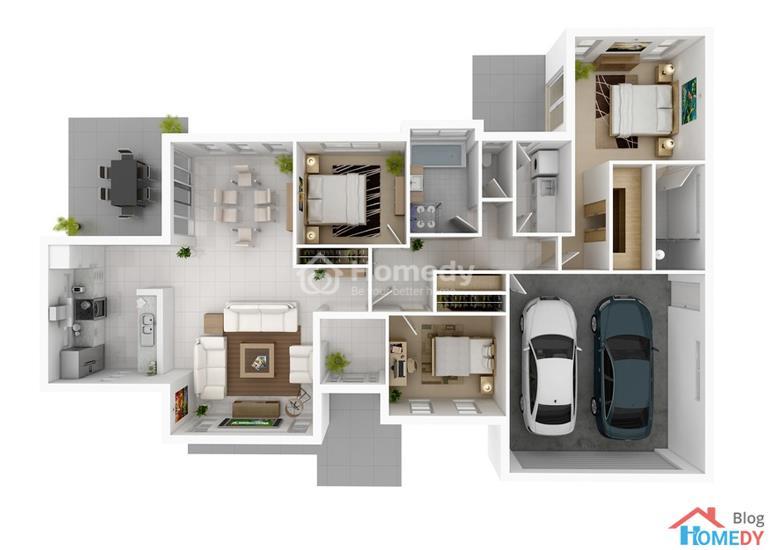 mẫu căn hộ 3D 11