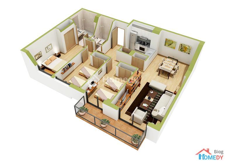mẫu căn hộ 3D 12