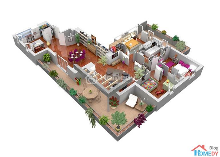 mẫu căn hộ 3D 13