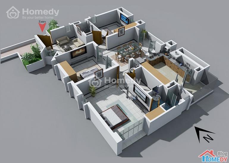 mẫu căn hộ 3D 14