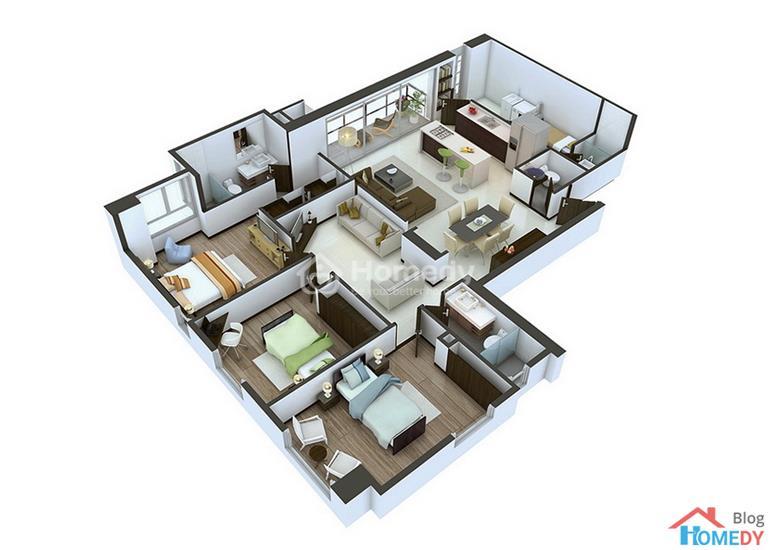 mẫu căn hộ 3D 2