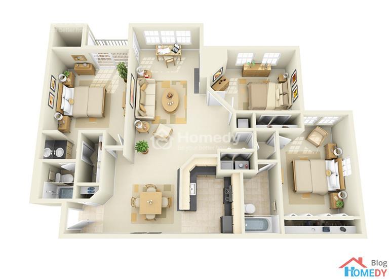 mẫu căn hộ 3D 3